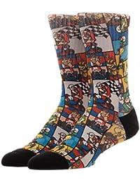 Super Nintendo Mario Kart Characters Men's Socks