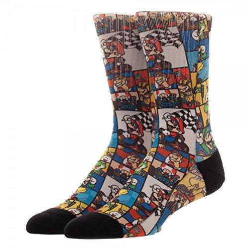 Super Nintendo Mario Kart Characters Men's - Socks Mario