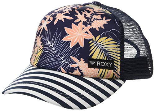 Roxy Girls Just Ok Trucker Hat, Medium Blue Full Floral Big Southwest 1SZ -