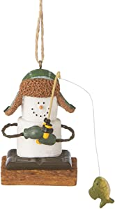 Midwest CBK S'mores Ice Fisherman Christmas Ornament