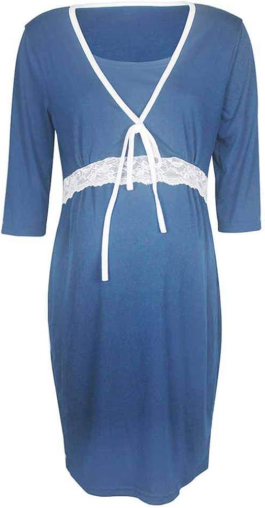 Vestido Embarazada Verano Ropa Premama Mujer Camisón Lactancia ...