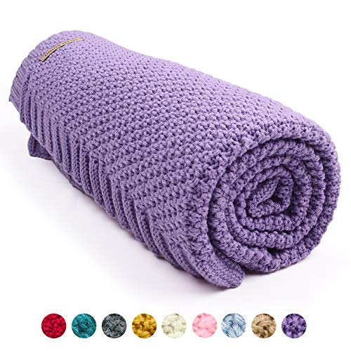 mimixiong Baby Blanket Knit Toddler Blankets for Boys and Girls Purple 40 x30 Inch from mimixiong
