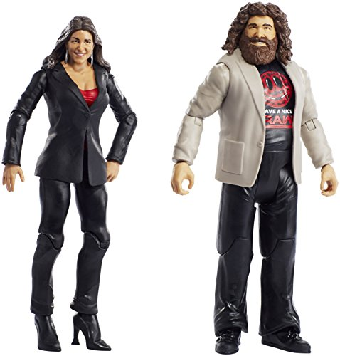Wwe Series   49 Stephanie Mcmahon   Mick Foley  2 Pack Action Figure