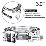 "EVIL ENERGY 3.0"" Quick-release V Band Exhaust Clamp Male Female Flanges Kit Stainless Steel Universal"