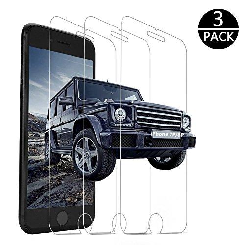 iPhone 8 Plus Screen Protector,iPhone 7 Plus Screen Protector, 3 PACK Yoyamo Tempered Glass Screen Protector 3D Touch Compatible 0.26mm Screen Protection Case for iPhone 8 Plus,iPhone 7 Plus