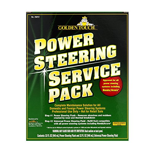 Golden Touch 25012-6PK 2 Step Power Steering Fluid Flush and Fill Pack - 32 fl. oz., (Pack of 6) by Golden Touch