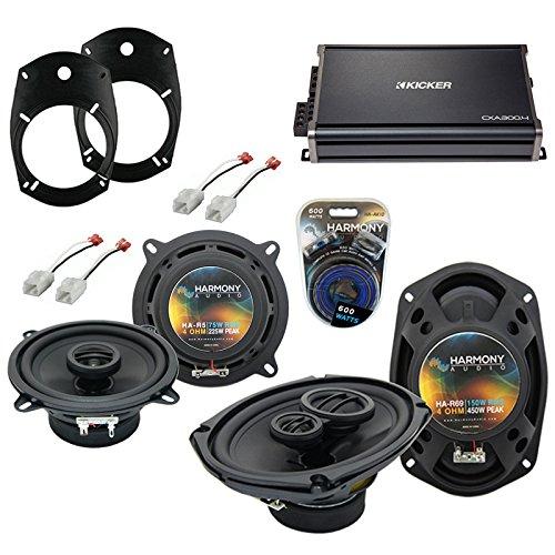 Fits Dodge Ram Truck 1500 2002-2008 Factory Speaker Upgrade Speakers & CXA300.4 Amp (Renewed) (Best Ram 1500 Upgrades)