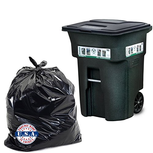 Dyno Products Online - 96 Gallon black, 1.5 Mil. Huge Toter Trash Bag 61