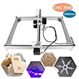 2500mw Laser CNC Engraving Machine, Tsemy Direct DIY 3040 CNC Machine Precison 0.1mm with USB Interface, Carving Machine for Leather Wood Plastic, Supporting GRBL with Protective Glasses