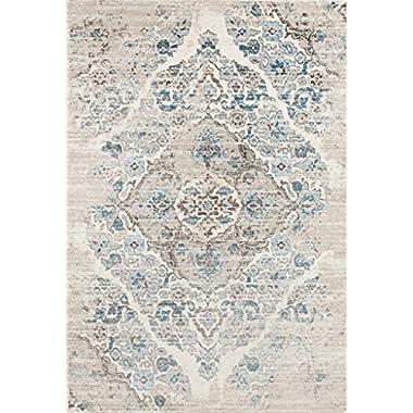 4620 Distressed Cream 5'2x7'2 Area Rug Carpet Large New