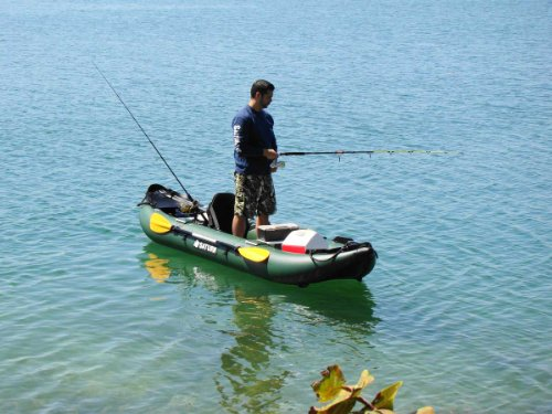 SATURN 13' Inflatable Fishing Kayak