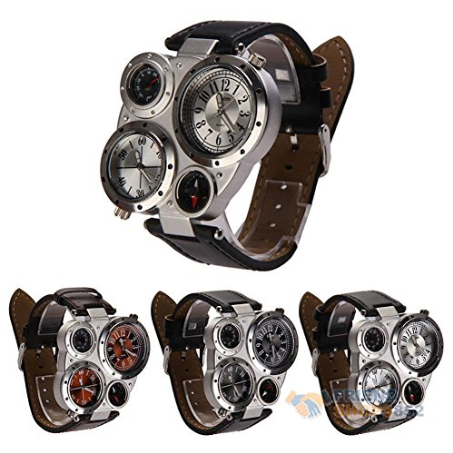 Amyove Quartz Digital Leather Watches