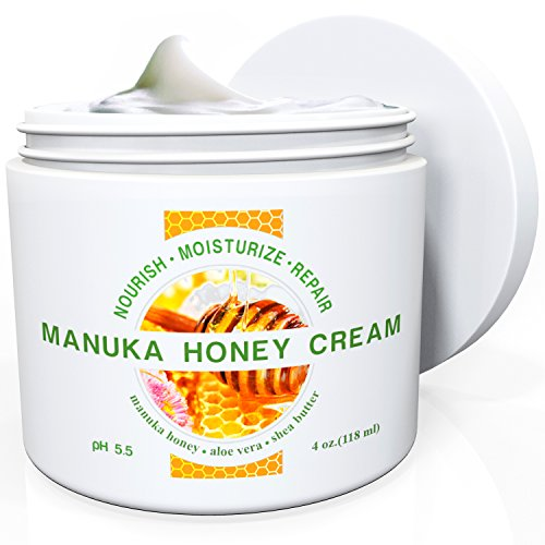 Naturel Hydratant Crème Skin Naturals sauvages - Avec Manuka Honey et Aloe Vera - Très légère, non grasse, pénètre rapidement - Tous les éléments nutritifs dont votre peau a besoin - pour tous types de peau - soulage sec, rouge, irritée, Itchy & peau craq