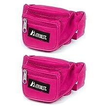 Everest Signature Waist Pack Unisex Extra Small Size Waist Pack (Hot pink set of 2)