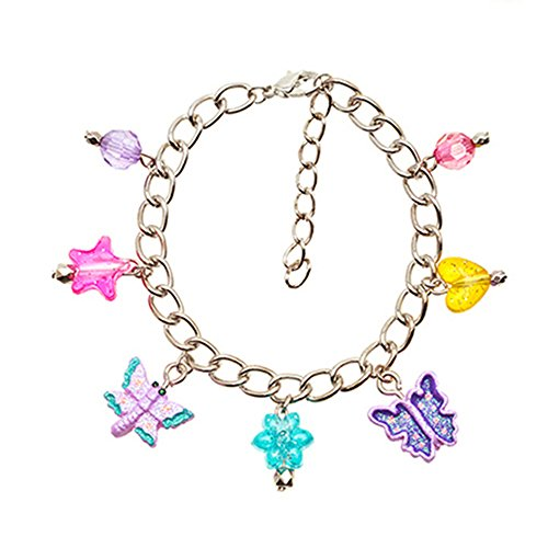 Frogsac Dragonfly and Butterfly Glitter Critters Charms Bracelet