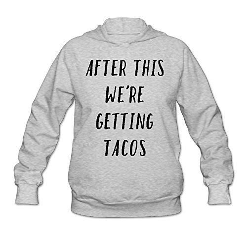 Bluma Women's Taco Tuesday After This We're Getting Tacos Sports Hoodie Sweatshirts Ash