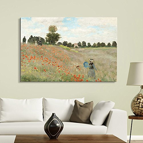 Famous Painting of Poppy Fieldby Claude Monet
