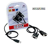 Unitek USB to Dual Serial RS-232 Converter USB to Serial Adapter Cable