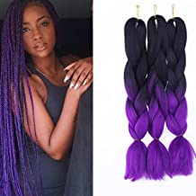 "SHANGKE Ombre Jumbo Braid Hair Extensions 24"" 3Pcs/Lot 100g/Pc High Temperature Kanekalon Synthetic Fiber for Twist Braiding Hair"