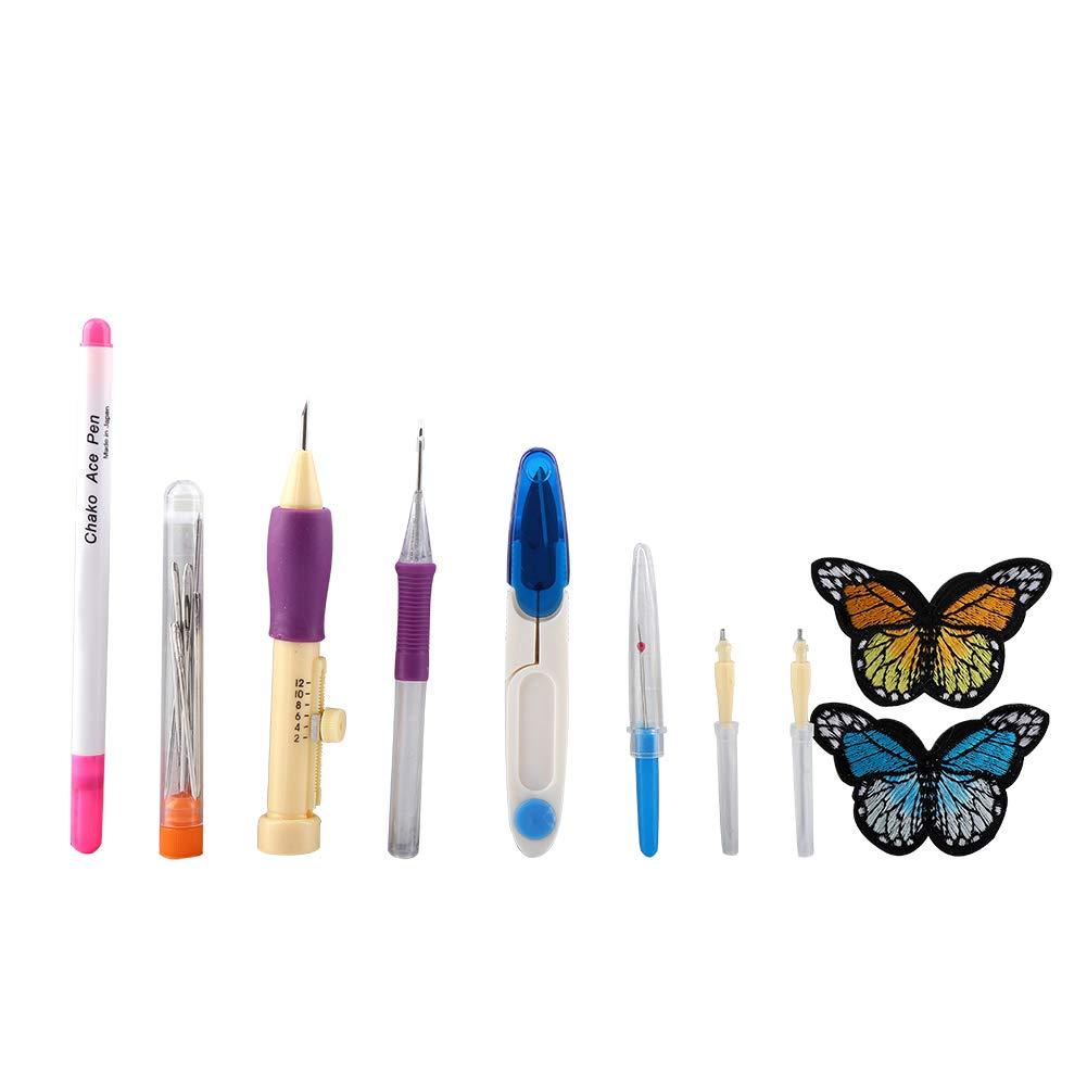 1 Set Stickerei Filzstoff Locher Nadel Werkzeug Und Nadeleinfaedler Fuer Naehen