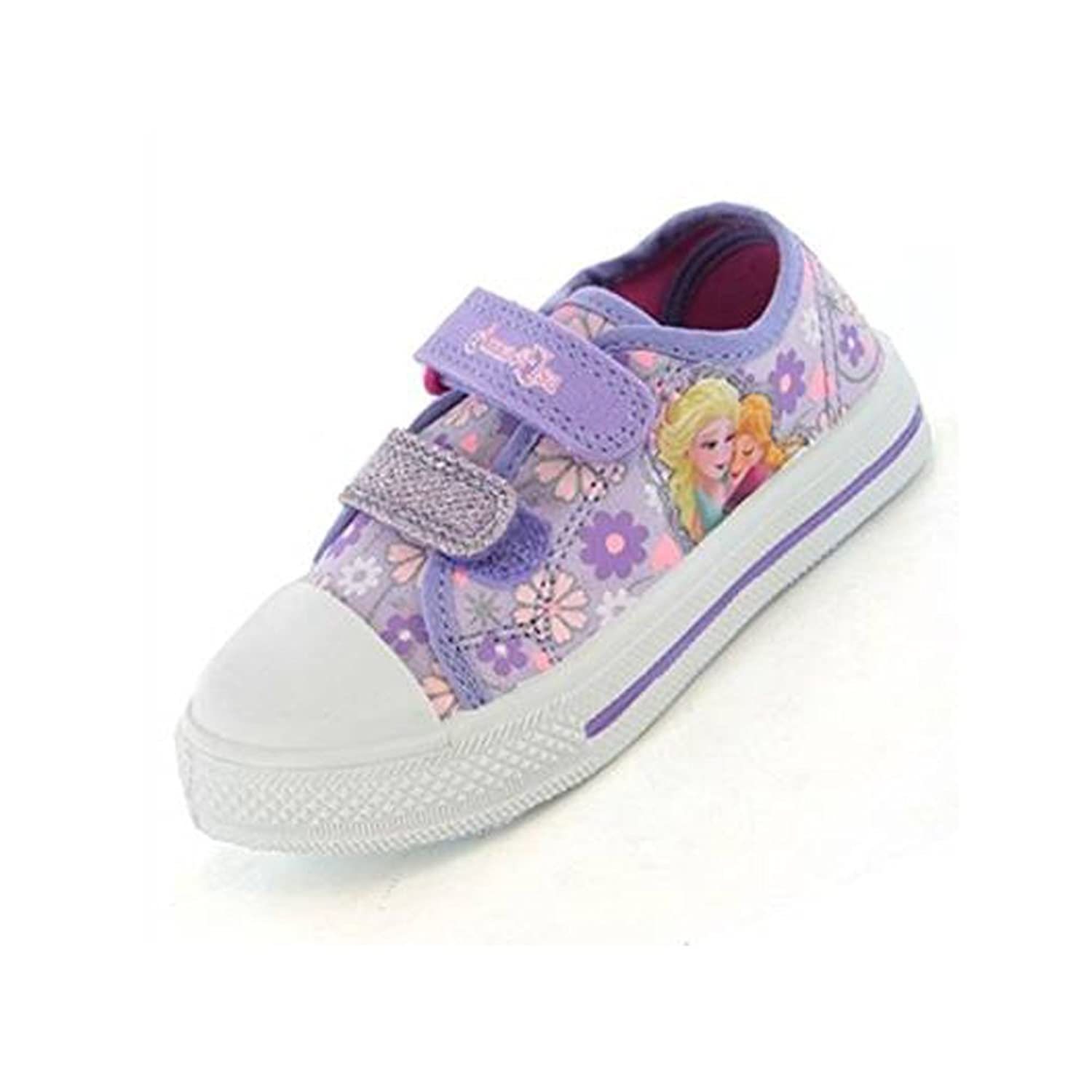 Disney Girls FROZEN Arctic Canvas Shoes in Lilac and Pink with a Floral  Design: Amazon.co.uk: Shoes & Bags