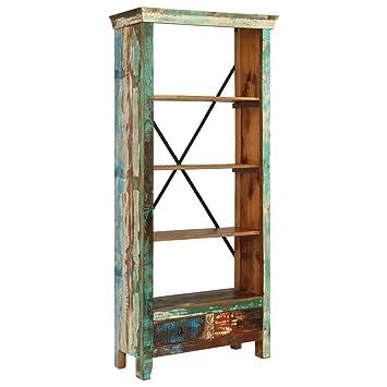 vidaXL Libreria in Legno Massello di Recupero 80x35x180 cm ...
