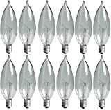 Tools & Hardware : GE Lighting Crystal Clear 24782 40-Watt, 370/280-Lumen Bent Tip Light Bulb with Candelabra Base, 12-Pack