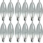 GE Lighting Crystal Clear 40-Watt, 370/280-Lumen Bent Tip Light Bulb with Candelabra Base, 12-Pack 24782