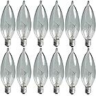 GE Lighting Crystal Clear 40-Watt, 370/280-Lumen Bent Tip Light Bulb with Candelabra Base, 12-Pack 24782