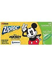Ziploc Disney Mickey Sandwich Storage Bag, Purple, 66 count, 324376