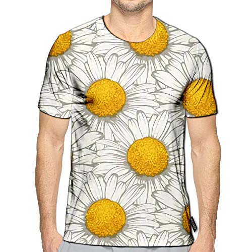 3D Printed T-Shirts Beautiful with Flowers Daisy Design for and Invitations of Wedding Bi Short Sleeve Tops Teese (Glamorous Wedding Invitations)