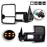 SCITOO Towing Mirrors for 2003-2006 Chevy Silverado Tahoe Suburban Avalanche GMC Sierra Yukon Cadillac Escalade Power Heated LED Signal Lamp Clearance Light Pair Mirrors