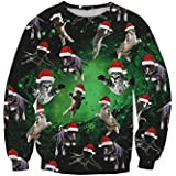 Lacostew Unisex Funny Print Ugly Christmas Sweater Crewneck Sweatshirt