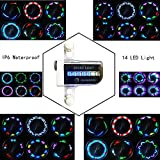 #4: iLosga Bike Wheel Lights - Waterproof Ultra Bright 14 LED Bicycle Wheel Spoke Decorations Light 30 Different Patterns Change Colorful Bicycle Tire Accessories Easy To Install