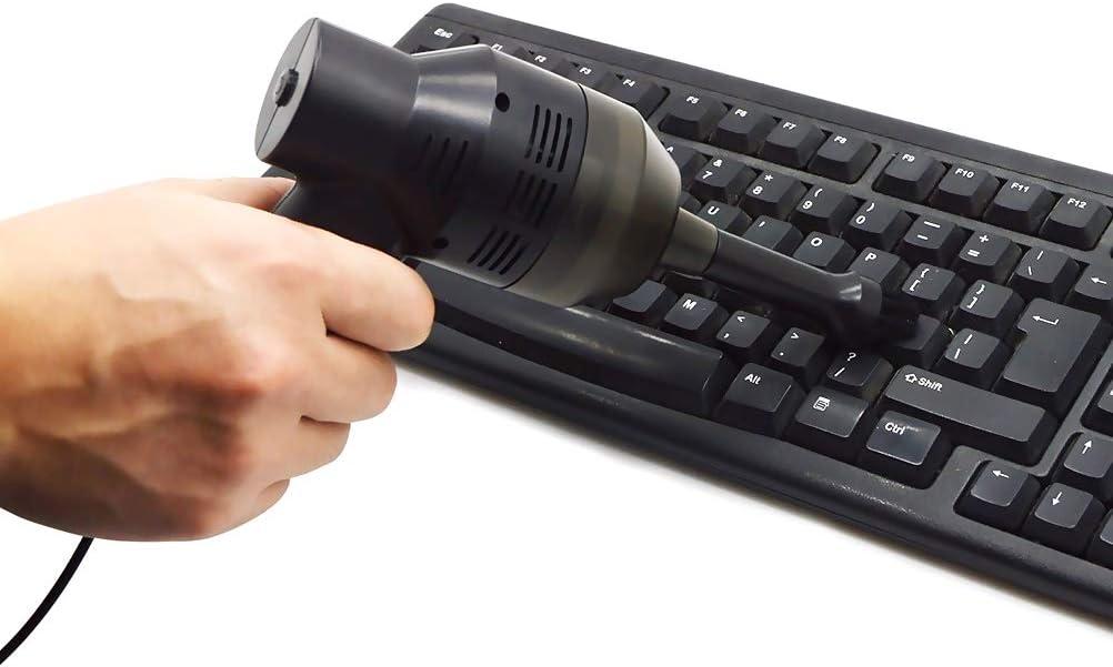 Hihey KeyClub Mini portátil de Mano Teclado USB Aspirador Teclado Aspirador Herramienta de Pincel para Ordenador portátil PC de Escritorio: Amazon.es: Hogar