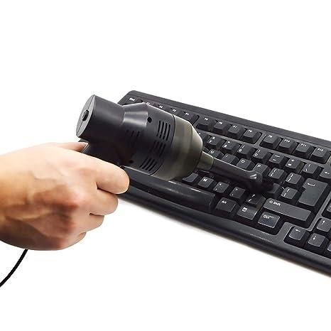 Neborn Portátil Mini Handheld USB Teclado Aspirador Teclado Aspirador Cepillo Herramienta para Laptop Computadora PC de