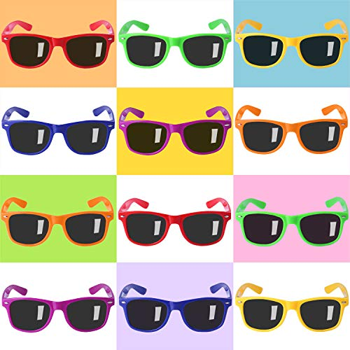 Party Sunglasses for Kids with UV400 Protection Eyewear Neon Sunglasses For Boys ,Girls - Great Gift for Party Favors, Birthday Party and Outdoor Activity( 12 Pack )