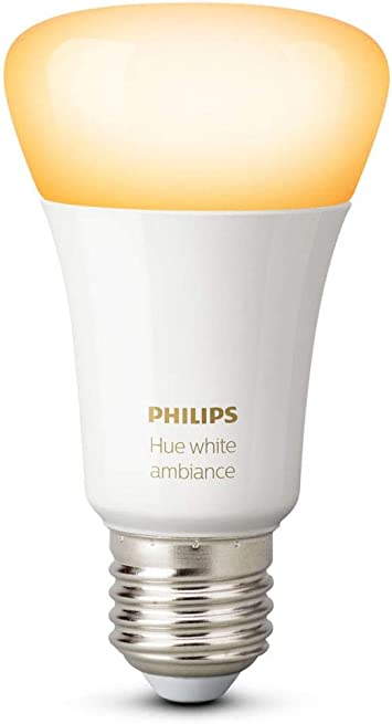 Philips Hue White Ambiance A19 60w Equivalent Dimmable Led Smart Bulb Works With Alexa Apple Homekit And Google Assistant Amazon Com