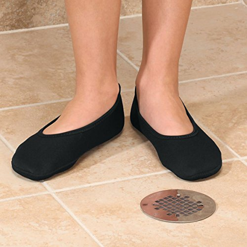 Easycomforts Healthy Stepstm Ballet Antideslizante Zapatilla Negra
