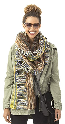 Lion Brand Yarn Lion 600-565 Lorelei Fringed SuperScarf CrochetKit