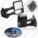 Scitoo Power Heated Led Turn Signal Lights Towing Mirror For 2003-2007 Ford F250 F350 F450 F550 Super Duty Side View Mirrors Left Right Pair Set