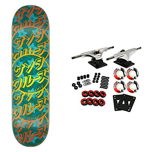 (Santa Cruz Skateboard Complete Blossom Dot 8.125