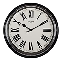 Studio Designs Home 73004 19 Traditional Metal Roman Wall Clock,Black