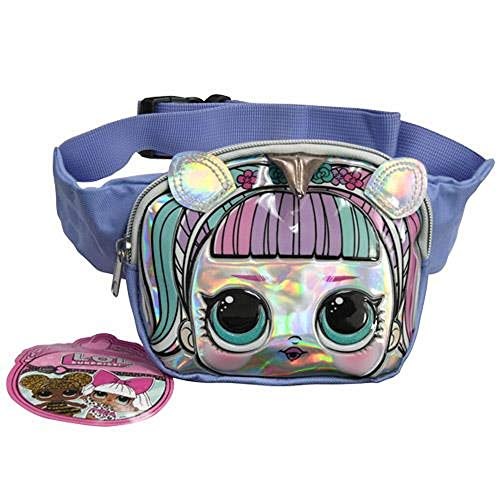 L.O.L Surprise Unicorn Belt Bag, Fashionable Fanny Pack, Cute & Stylish Crossbody Waist Chest Bag for Daily Use, Elementary, Middle School Students Kids Multipurpose Daypack Girls Travel Accessories