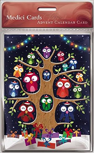 Advent Calendar Card (MED0707) - Christmas Owls