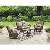 Cheap Colebrook 4-Piece Outdoor Conversation Set, Seats 5-tan