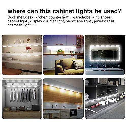 Keyola Full Set 10ft 60leds White Under Cabinet Lights Closet Kitchen Counter LED Light with Brightness Dimmer (White) by Keyola (Image #2)