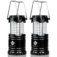 2-Pack Etekcity Portable Outdoor LED Camping Lantern Flashlights (Black)