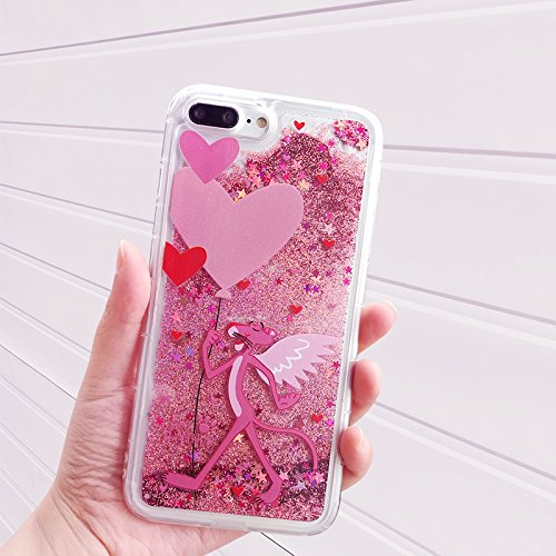 Pink Glitter Flowing Case for iPhone 7+ iPhone 7Plus 8Plus Large Size 5.5