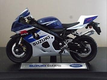 WELLY 1.18 SCALE SUZUKI GSX R 750 MOTORBIKE MOTORCYCLE DIECAST MOTO GP